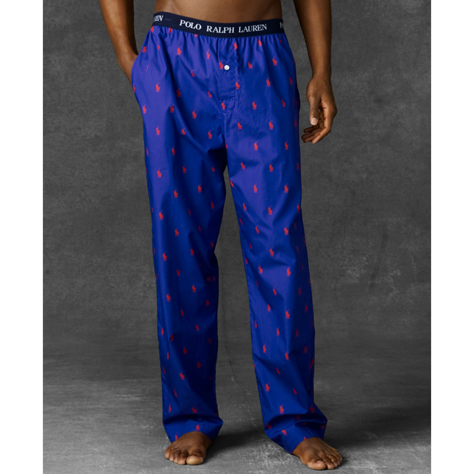 71fa66296d Lyst - Ralph Lauren Polo Player Pajama Pants in Blue for Men