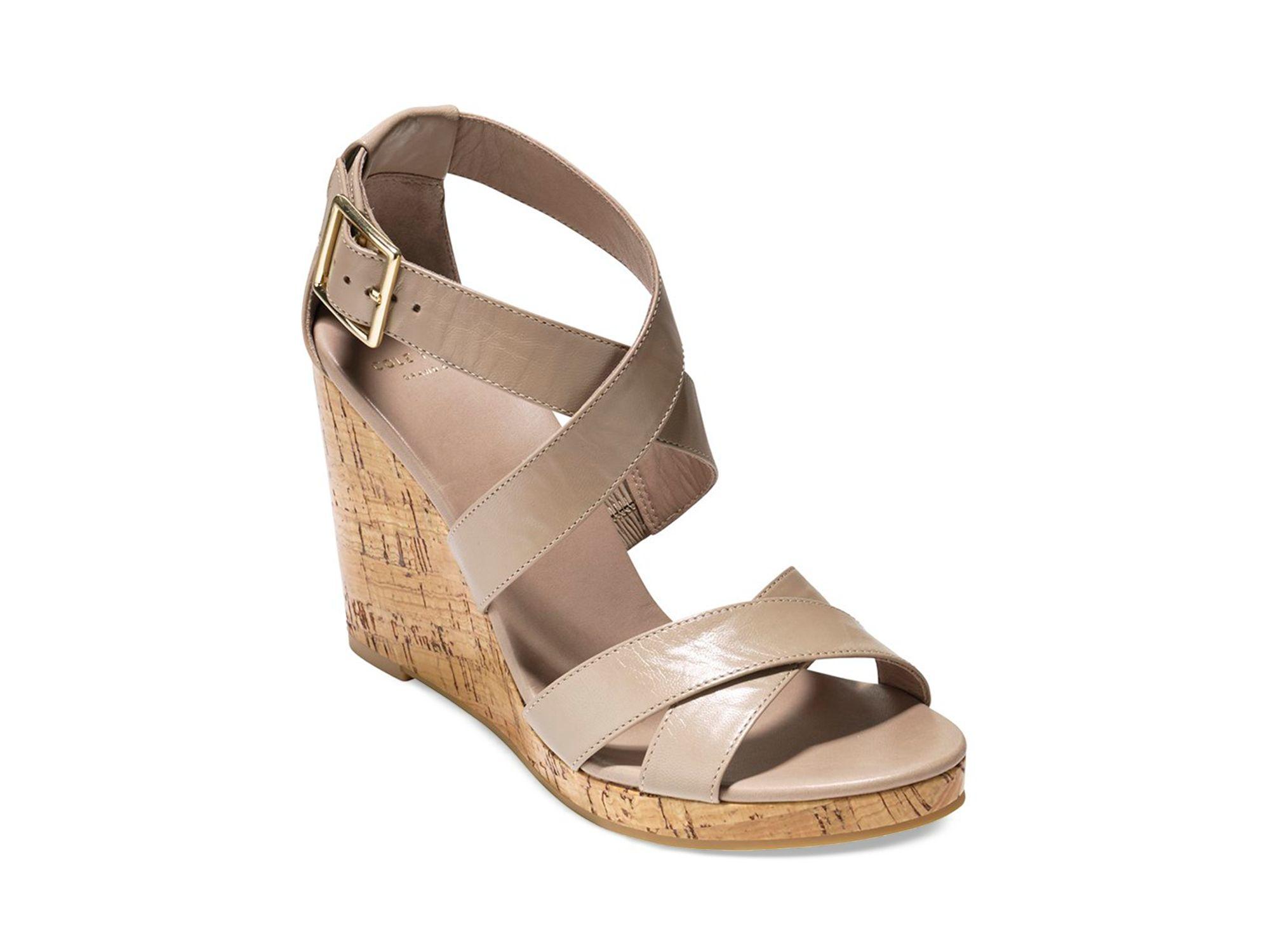 4fbaca5122e Lyst - Cole Haan Wedge Sandals - Jillian in Natural