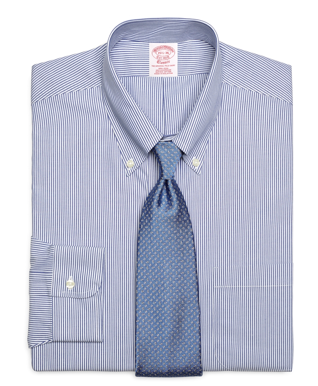 Brooks brothers non iron slim fit candy stripe dress shirt for Brooks brothers non iron shirts review