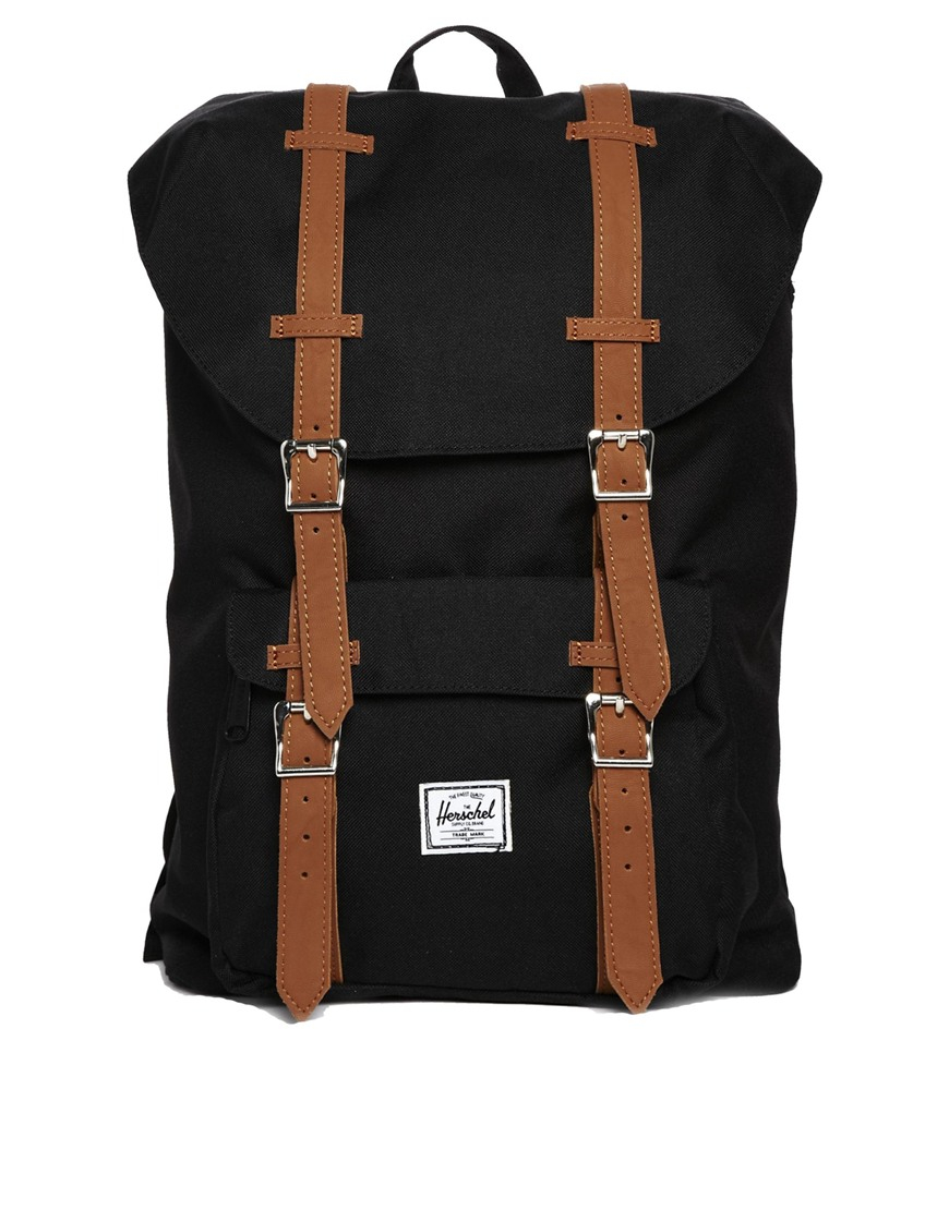 lyst herschel supply co little america backpack mid. Black Bedroom Furniture Sets. Home Design Ideas