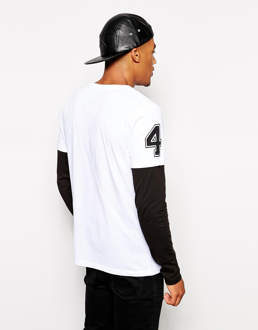 Lyst Asos Long Sleeve T Shirt With Double Layer And Star