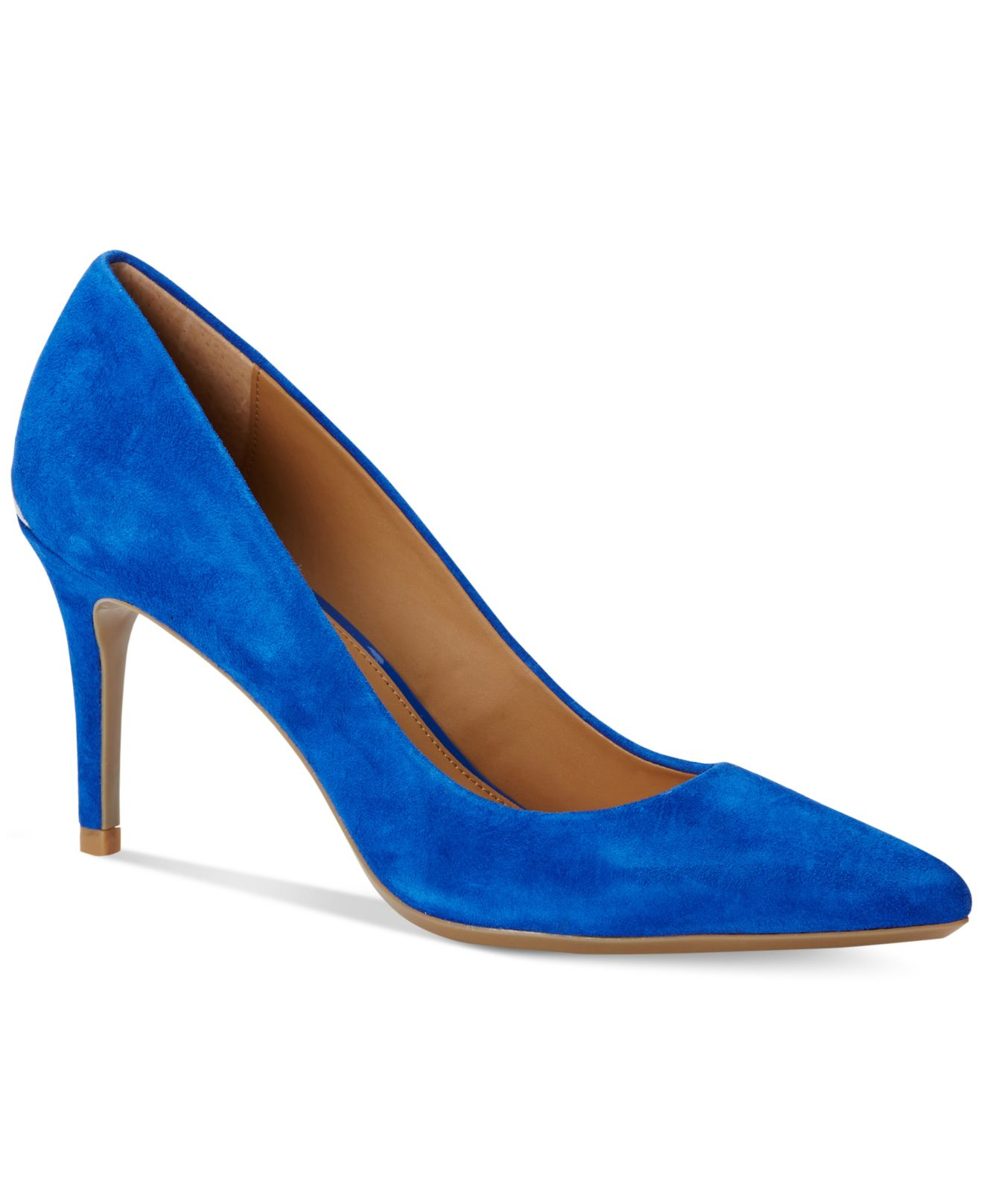 b0285f8c6f50 Lyst - Calvin Klein Women s Gayle Pointed-toe Pumps in Blue