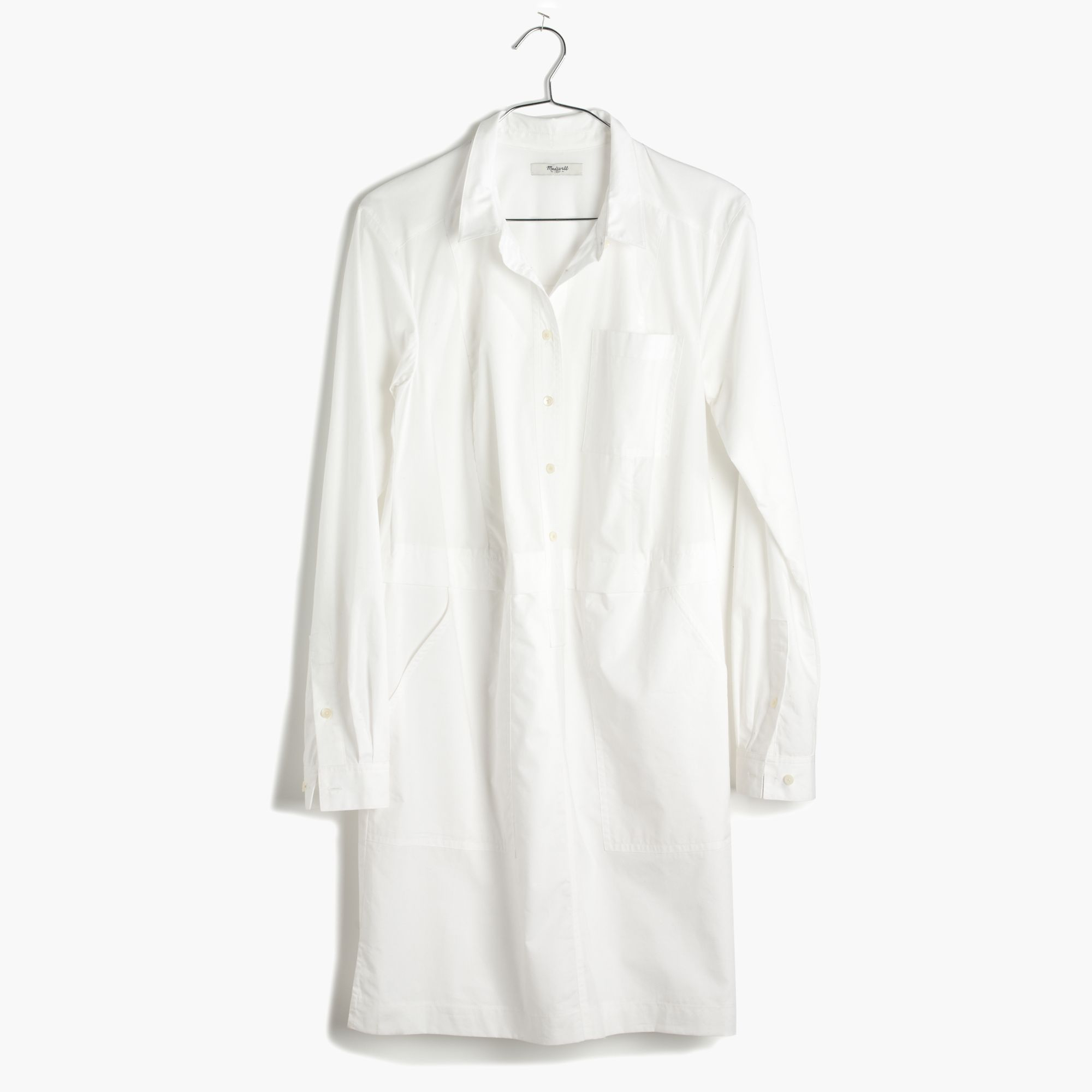 4b37ced804f Madewell Button-Down Shirtdress in White - Lyst