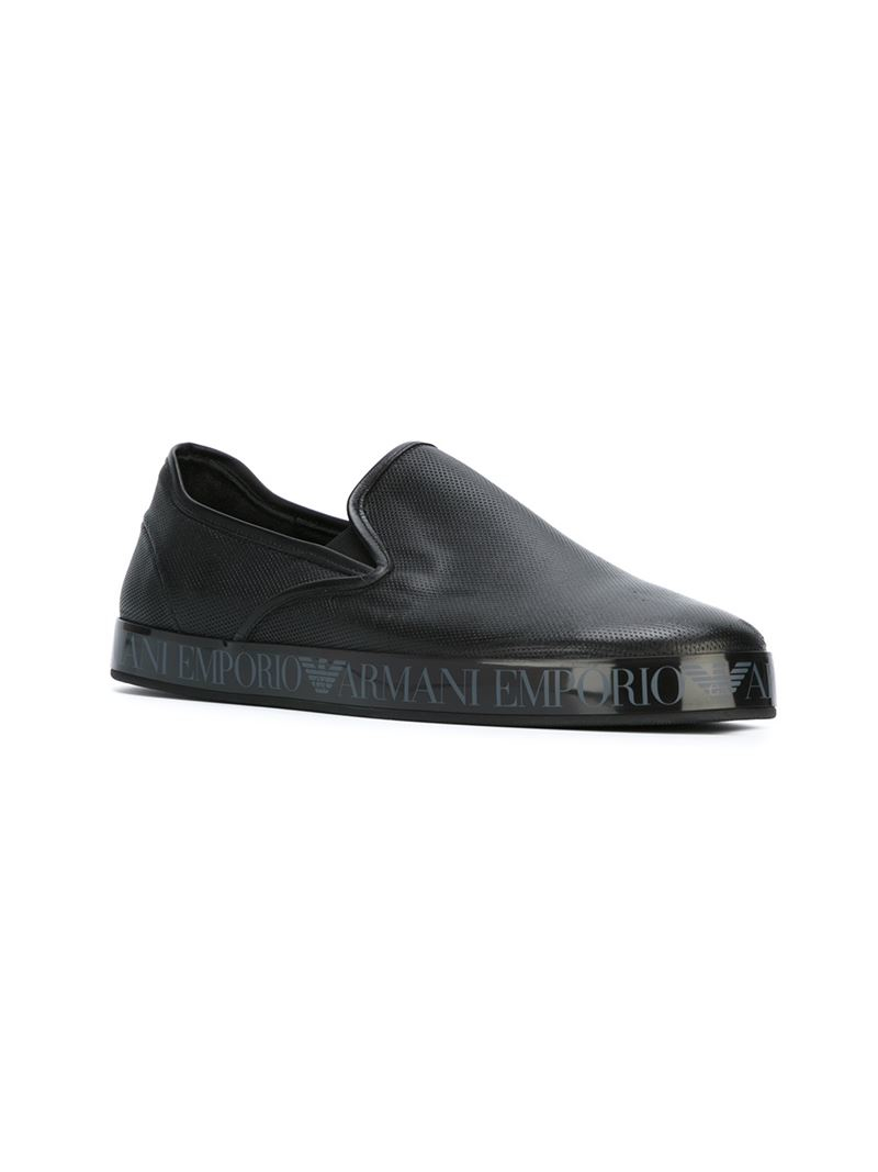 classic slip-on loafers - Black Emporio Armani QsEJZ4