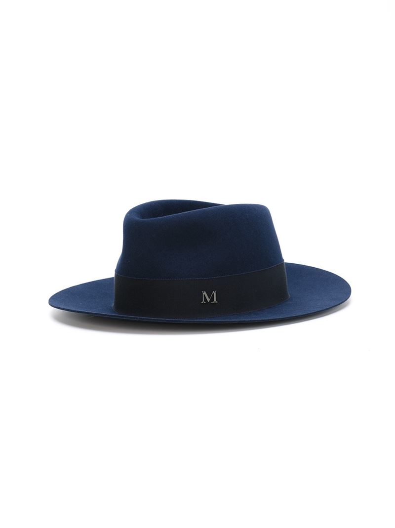 Maison michel 39 andre 39 hat in blue lyst for Maison michel