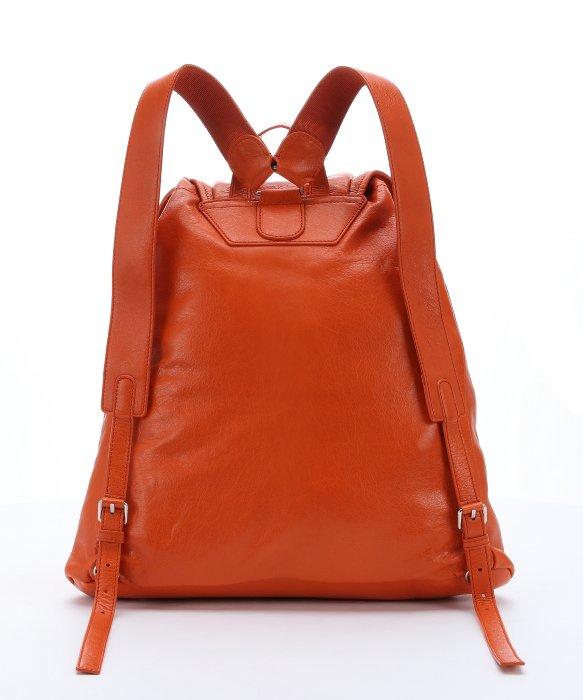 Balenciaga Burnt Orange Distressed Leather 'traveler S' Backpack ...
