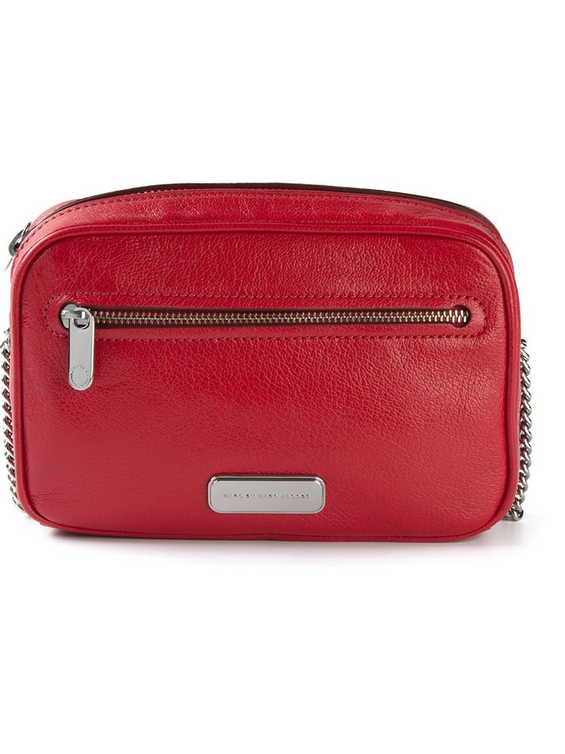 marc by marc jacobs sally cross body bag in red lyst
