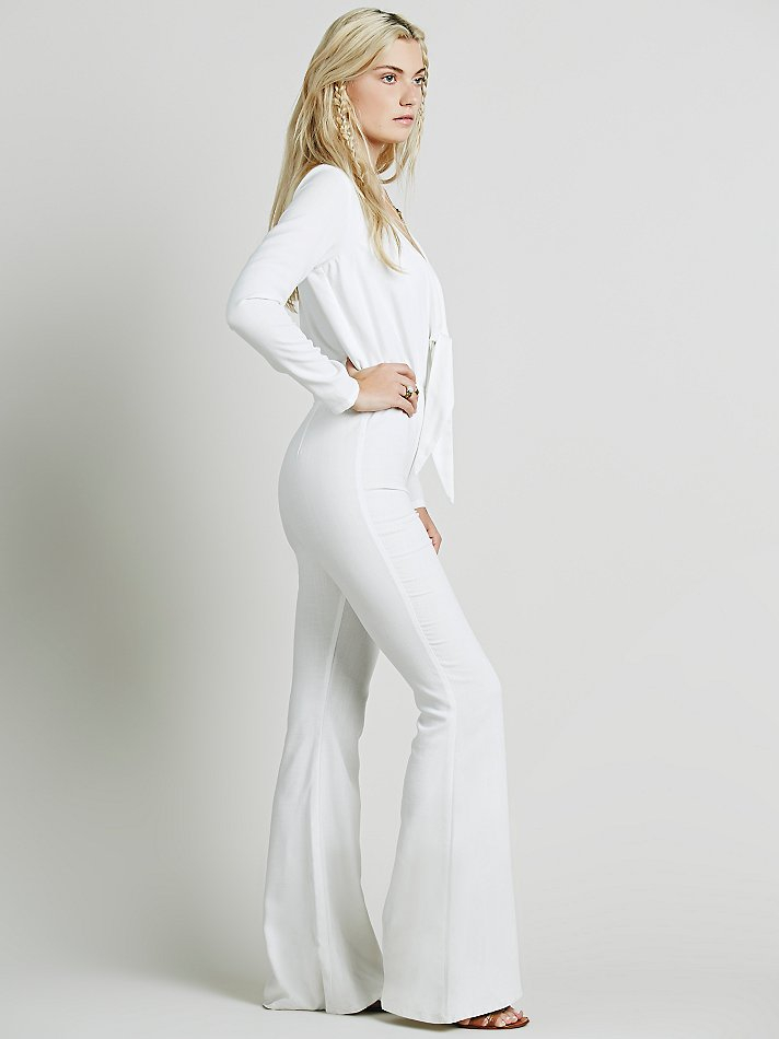 01613b003ea3 Lyst - Free People Stone Cold Fox Womens Stardust Jumpsuit in White