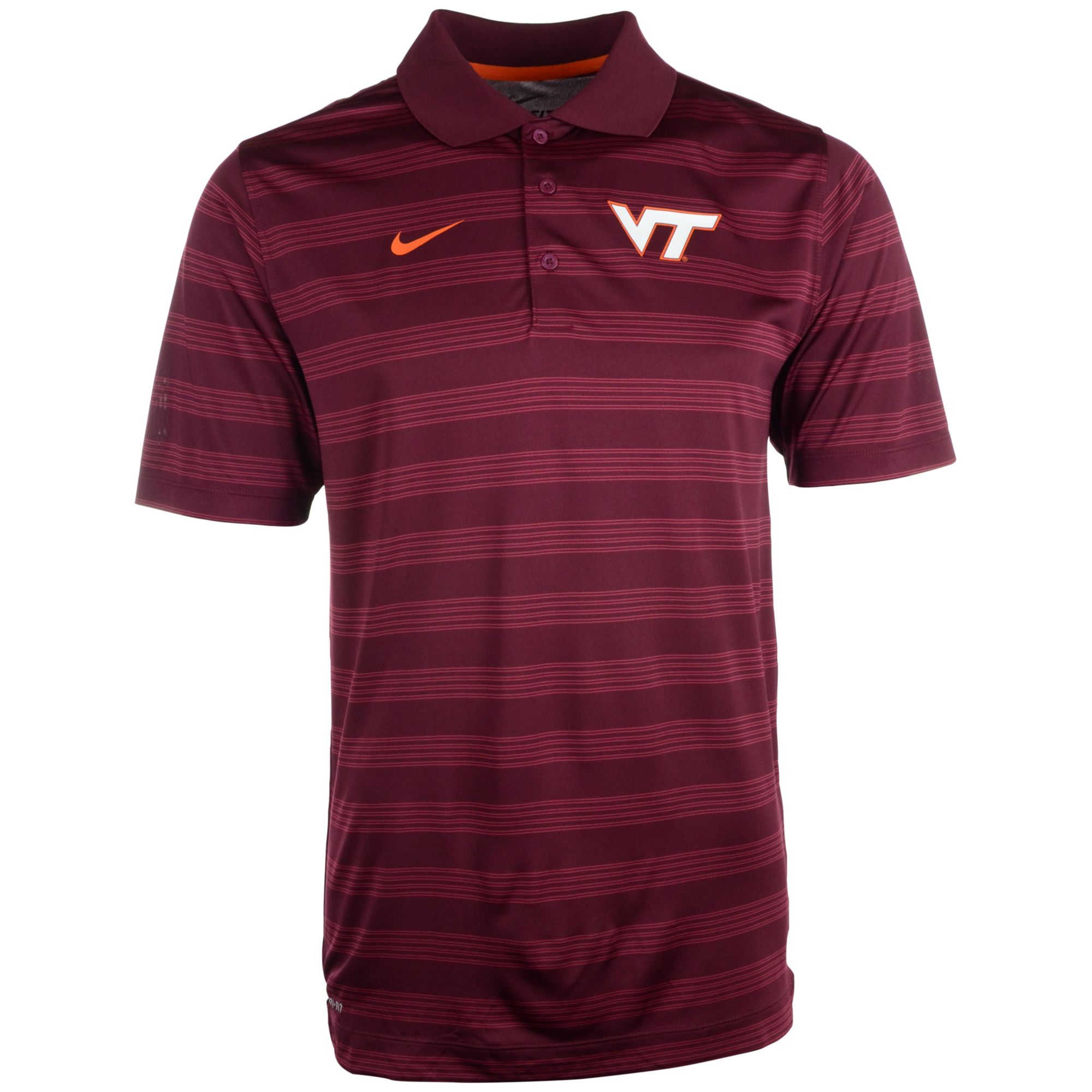 nike men 39 s virginia tech hokies dri fit preseason polo