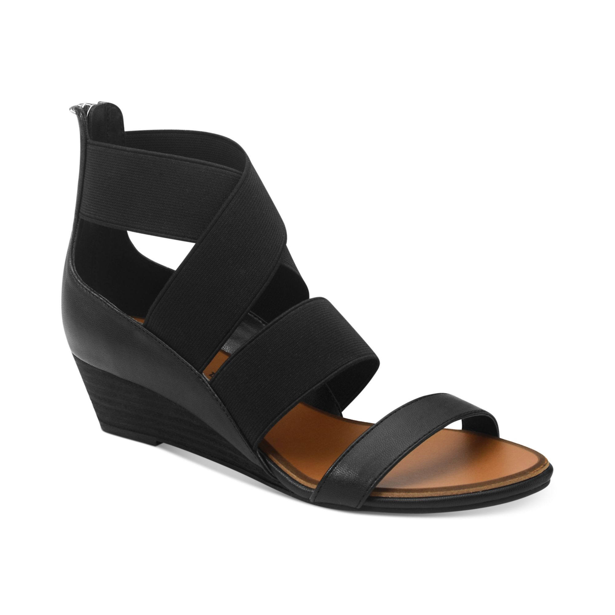 Lyst Chinese Laundry Kido Low Wedge Sandals In Black
