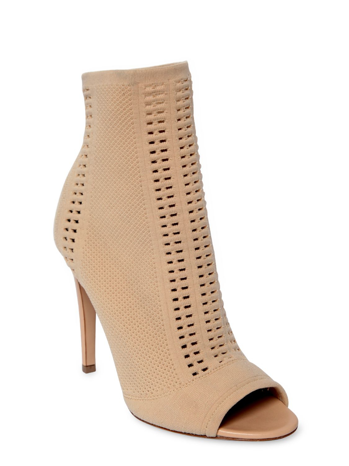 Gianvito Rossi 100MM VIRES STRETCH KNIT OPEN TOE BOOTS cW4CrUrG