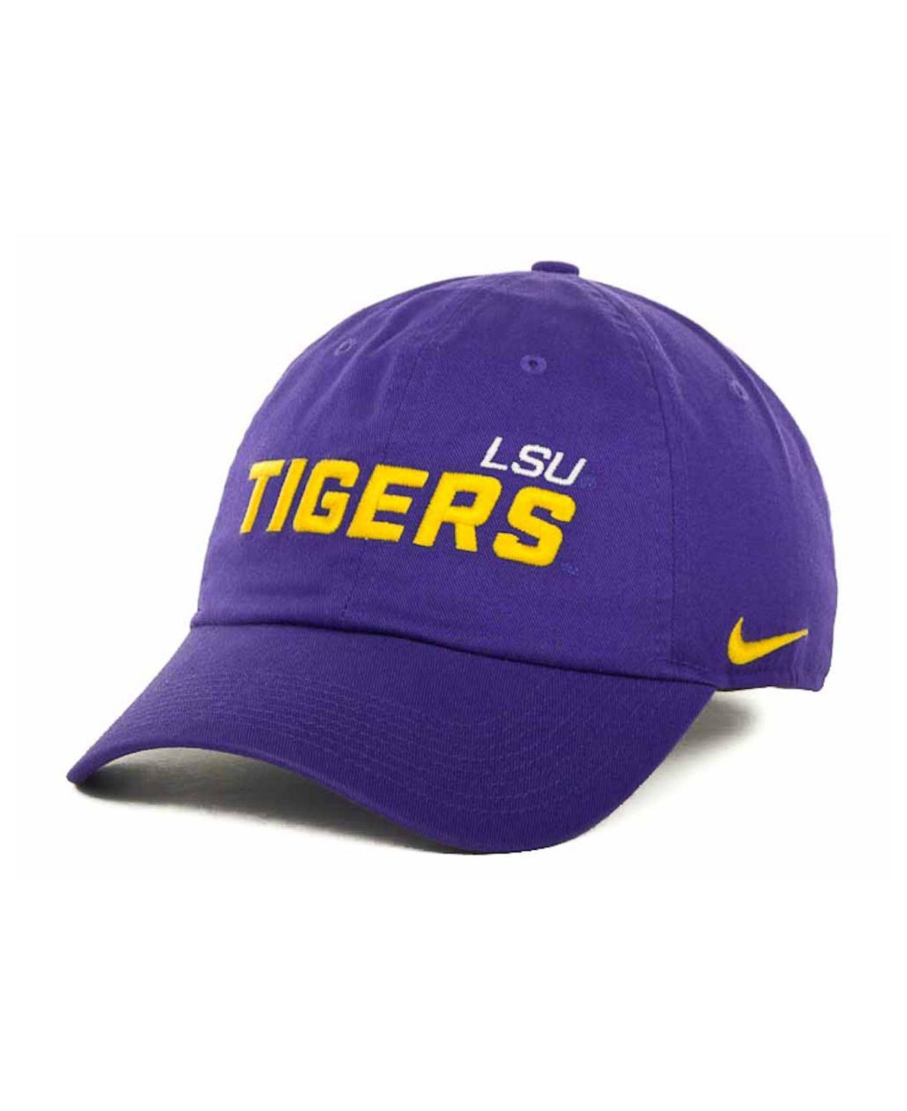 6b6591467dc Lyst - Nike Lsu Tigers Heritage 86 Campus Cap in Purple for Men