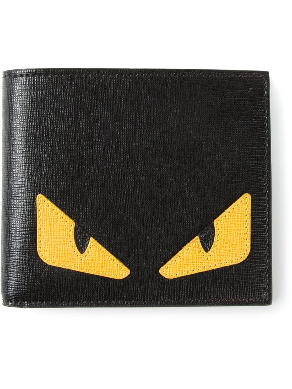 ec123b1a2e Lyst - Fendi Bag Bugs Wallet in Black for Men