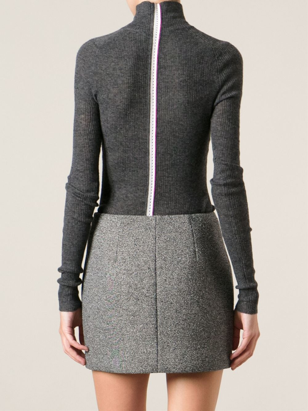 Lyst T By Alexander Wang Contrasting Back Zip Fastening