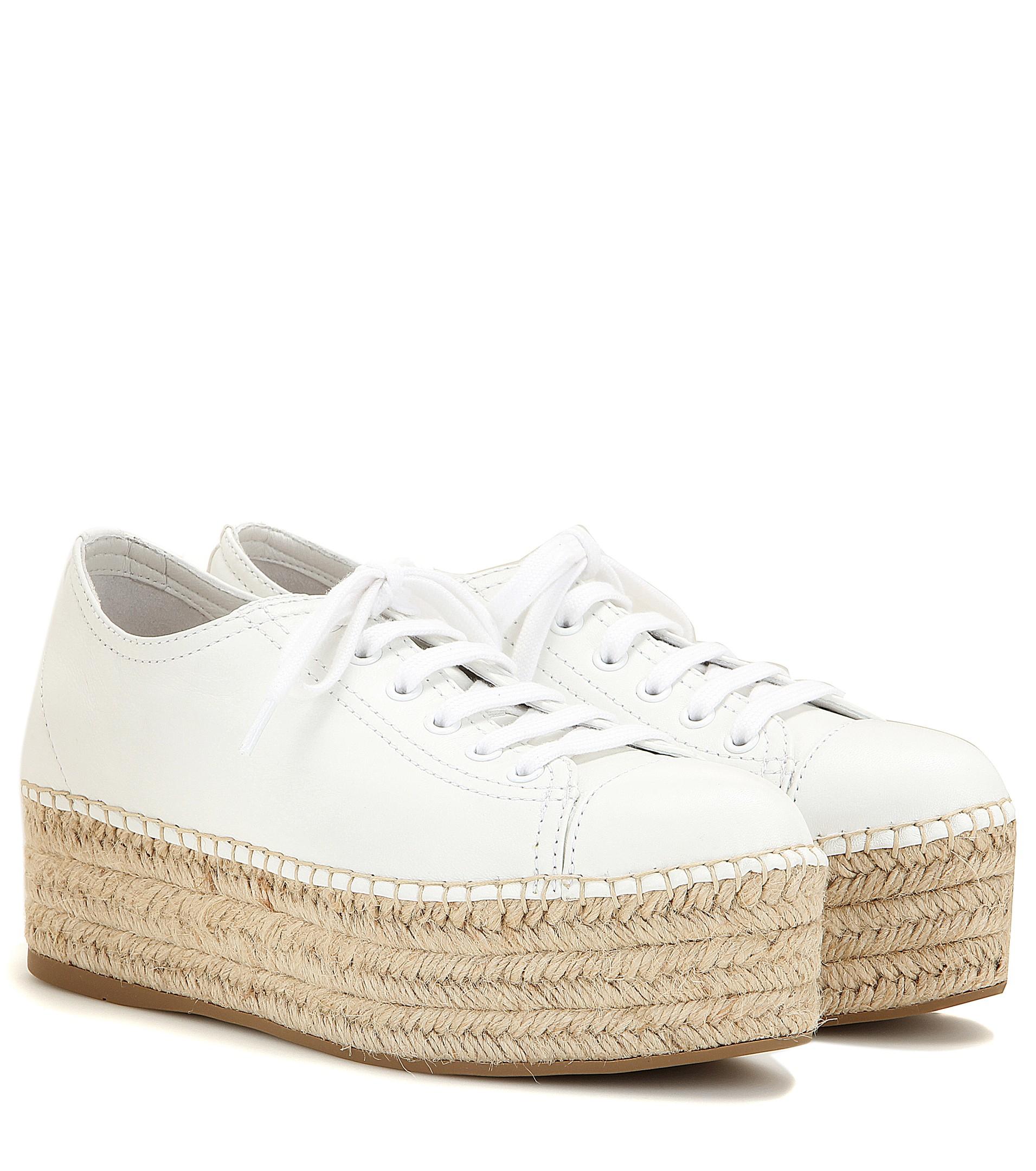 Suede espadrille-style platform sneakers Miu Miu vc6GePn