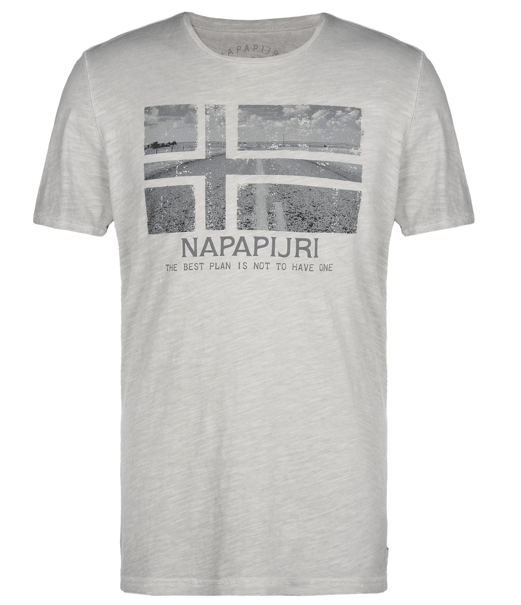 napapijri short sleeve t shirt in gray for men grey lyst. Black Bedroom Furniture Sets. Home Design Ideas