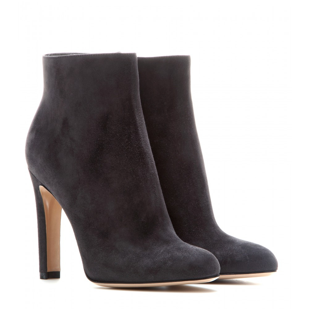 gianvito suede ankle boots in brown lyst