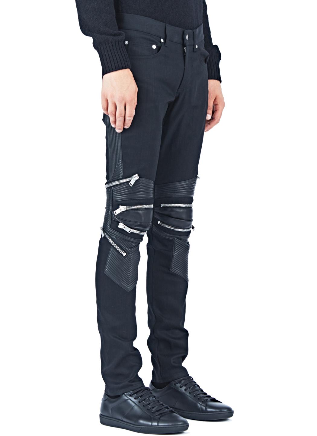 2d889e1d169 Saint Laurent Denim Biker Pants in Blue for Men - Lyst