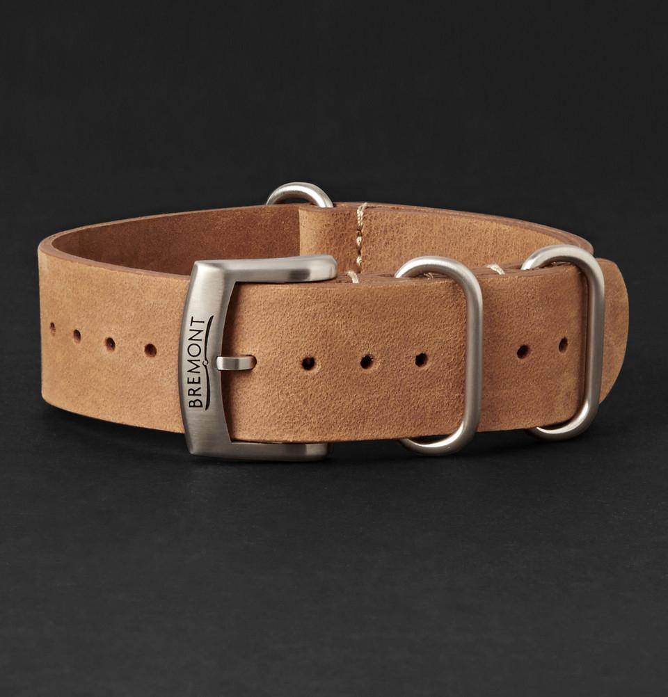 Bremont Hambleden Leather Watch Strap - Brown szMUTGYZK