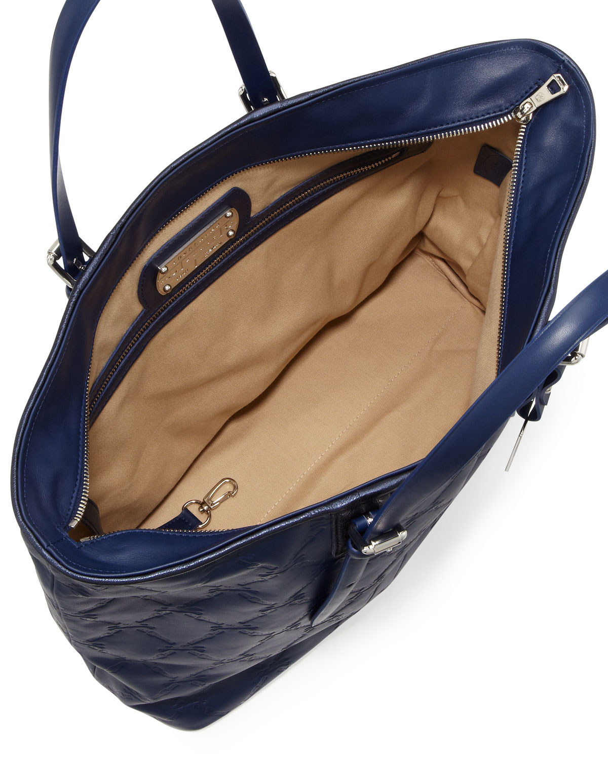 Lyst - Longchamp Lm Cuir Large Tote Bag in Blue 720f534ecb