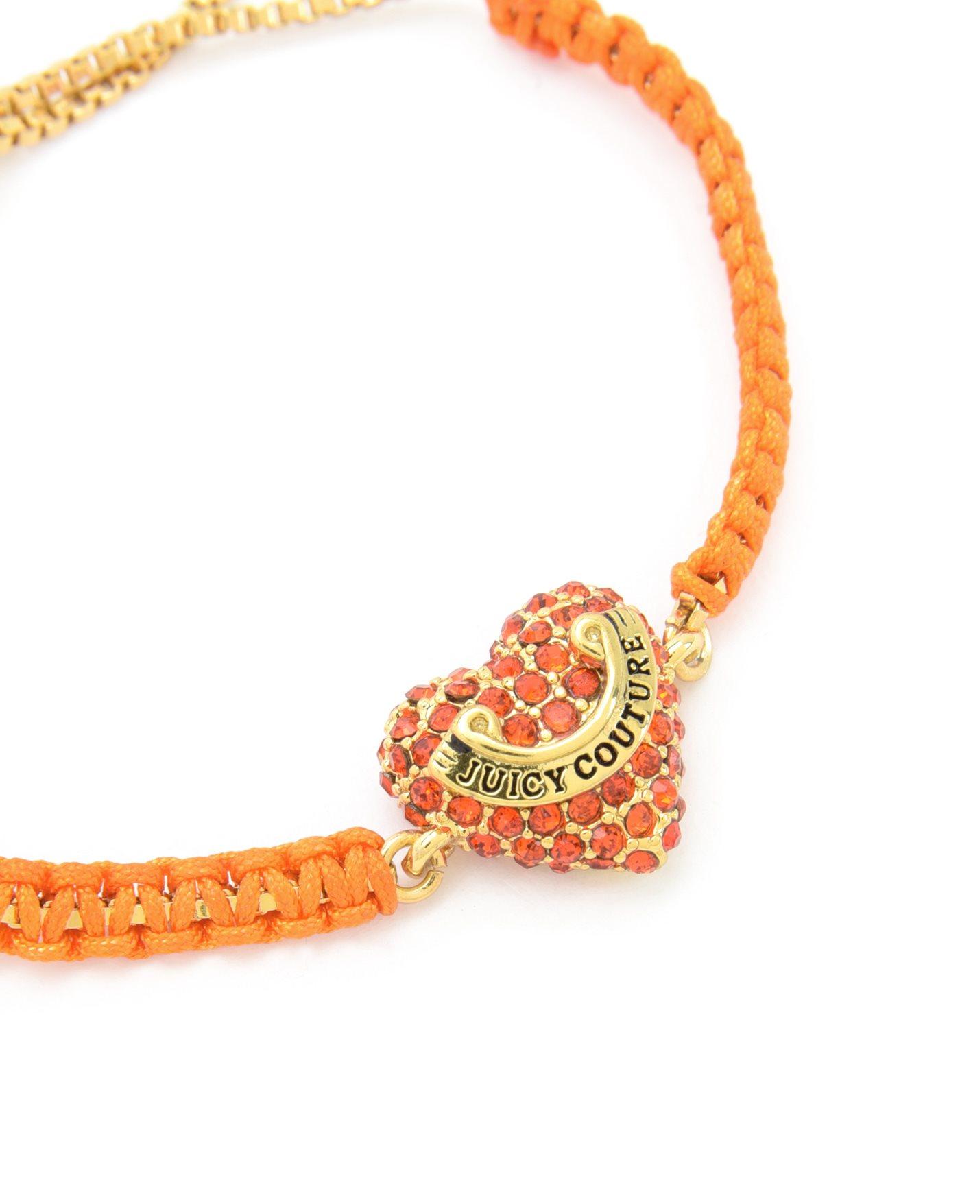 couture macrame bracelet in orange lyst