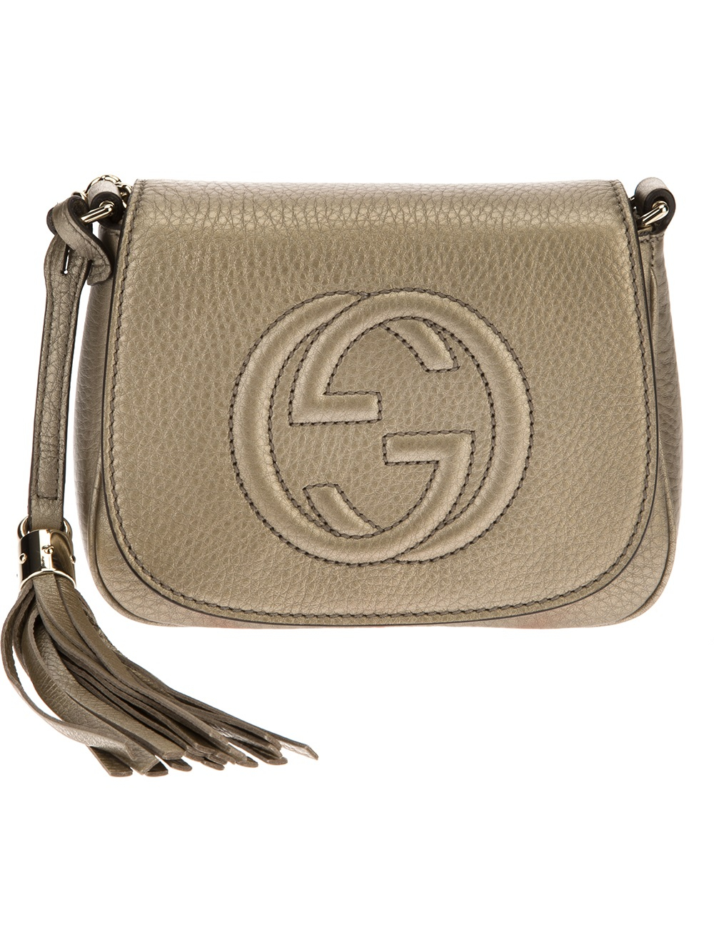 Lyst Gucci Small Shoulder Bag In Metallic