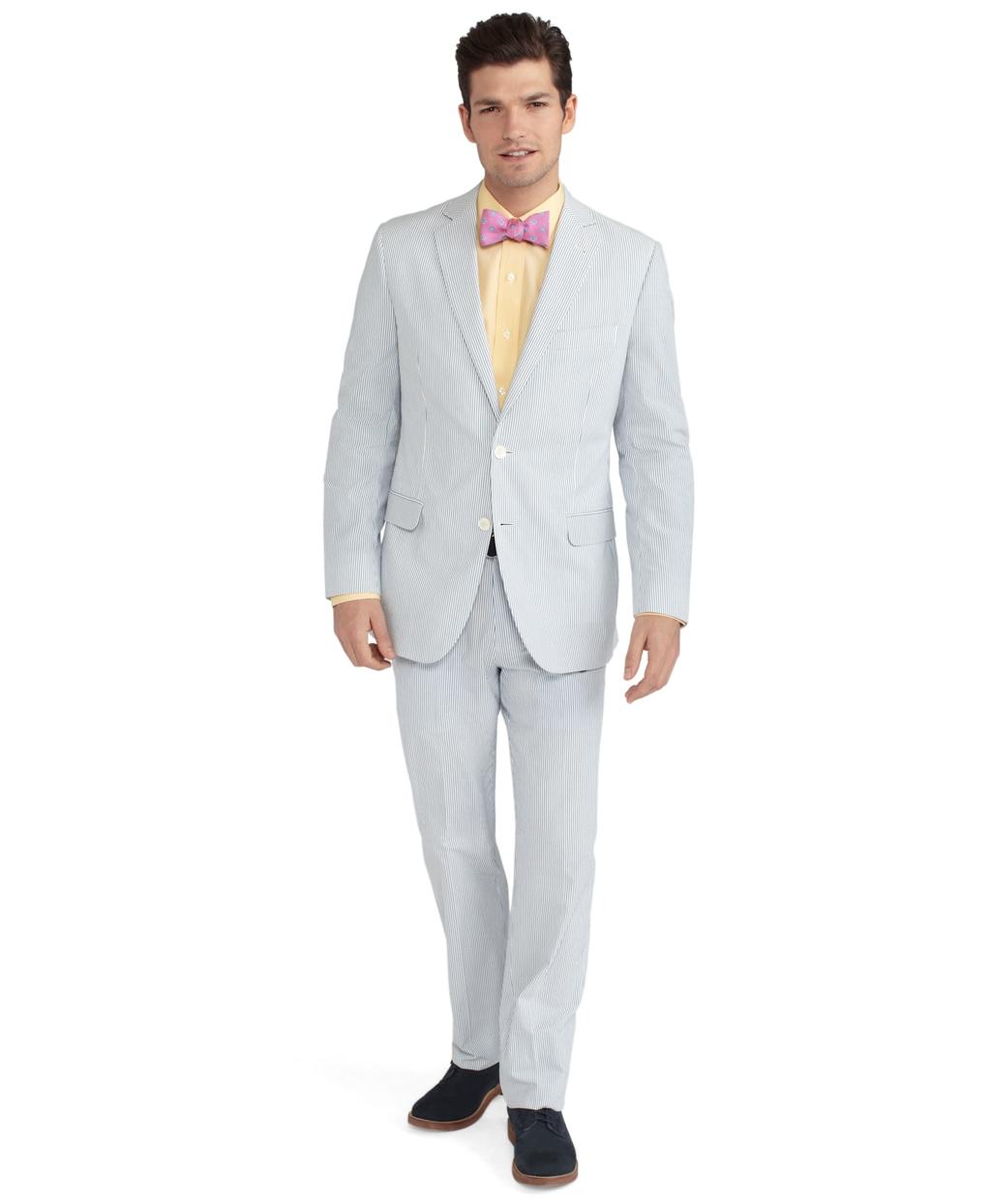 Lyst - Brooks Brothers Seersucker Fitzgerald Fit Suit in ...