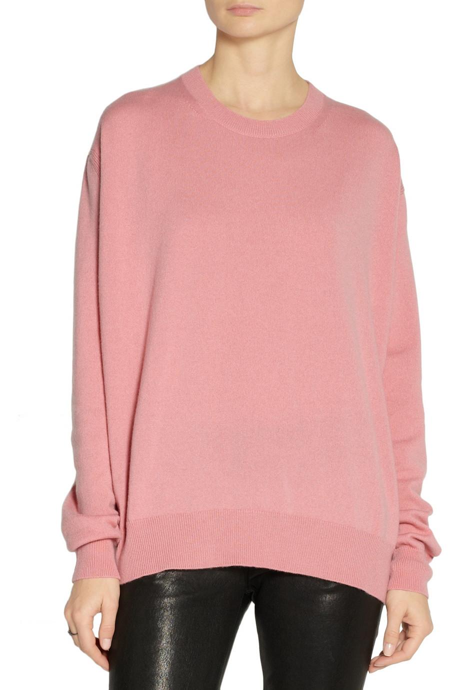 Jil sander Cashmere Sweater in Pink | Lyst
