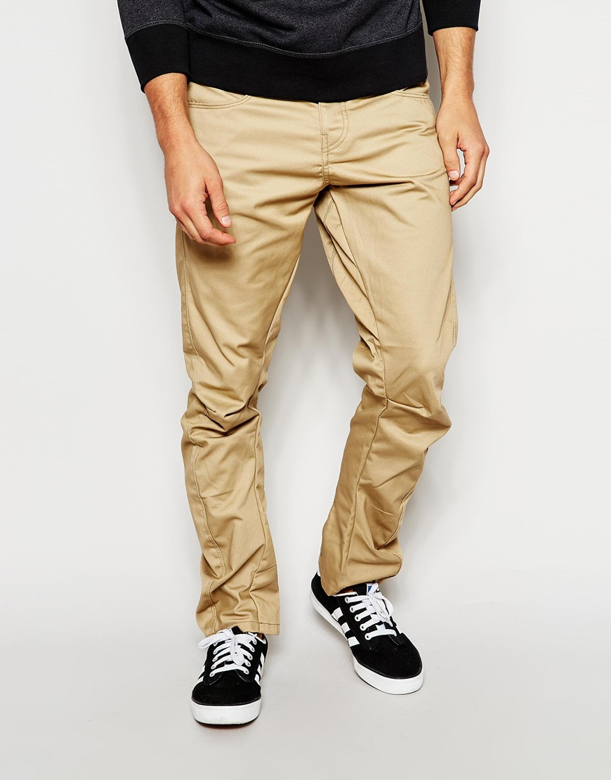 lyst jack jones anti fit chinos in natural for men. Black Bedroom Furniture Sets. Home Design Ideas
