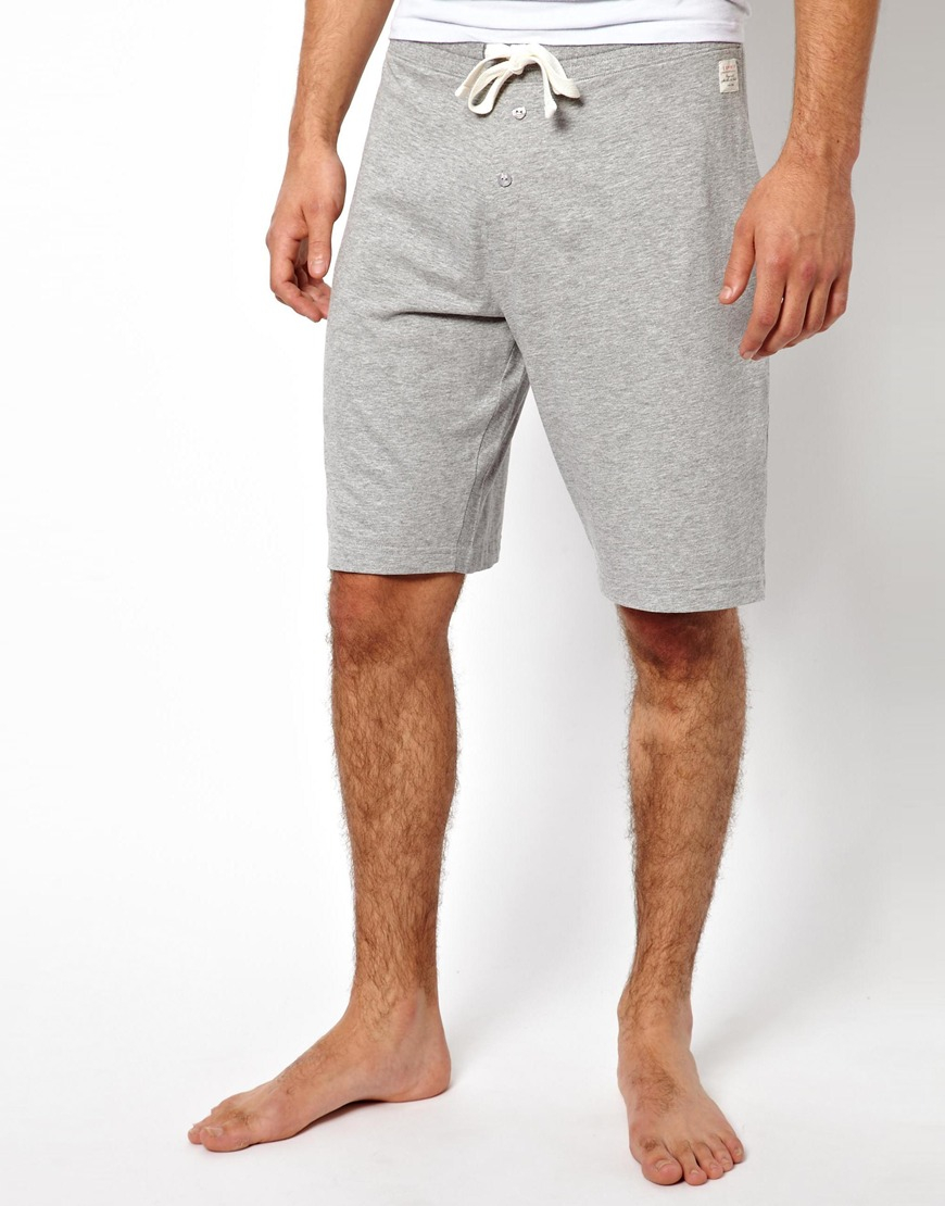 Esprit Jersey Shorts Slim Fit in Gray for Men | Lyst
