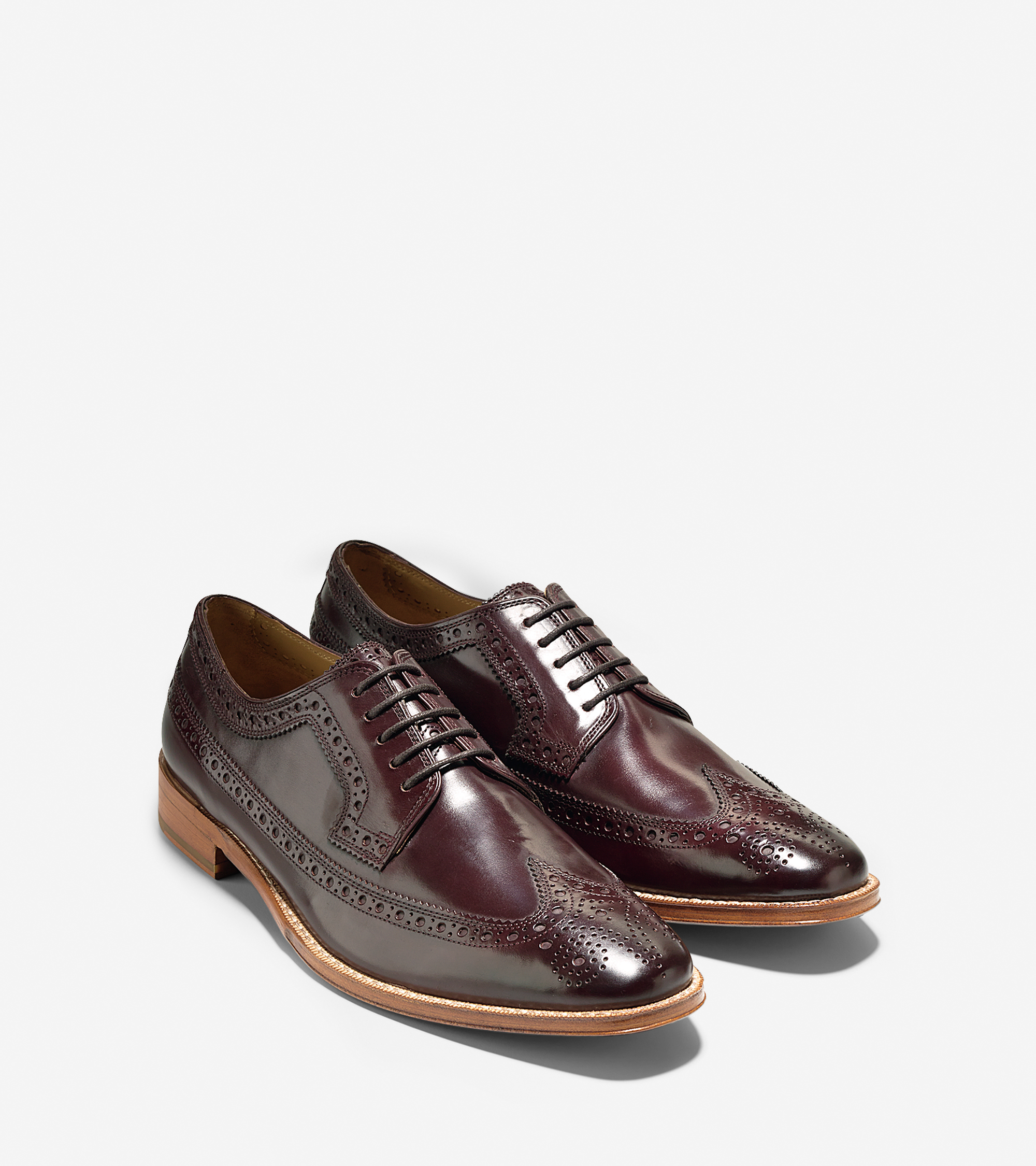 Wingtip Shoes With Leather Outsoles