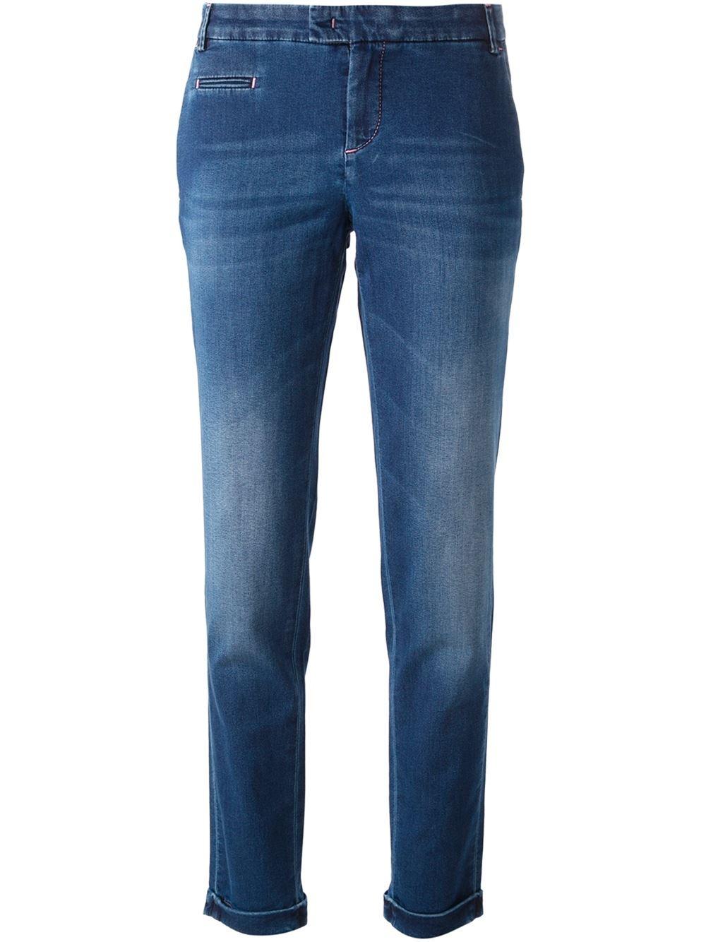 Jacob cohen slim fit jeans in blue lyst - Jacob cohen denim ...