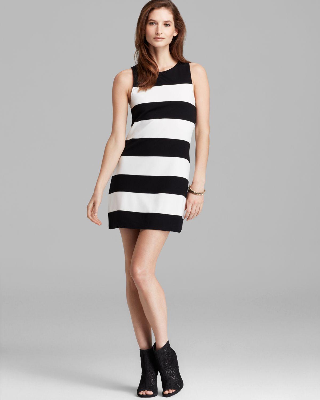 6fe8f6eb4cc Sanctuary Molly Striped Shift Dress in White - Lyst