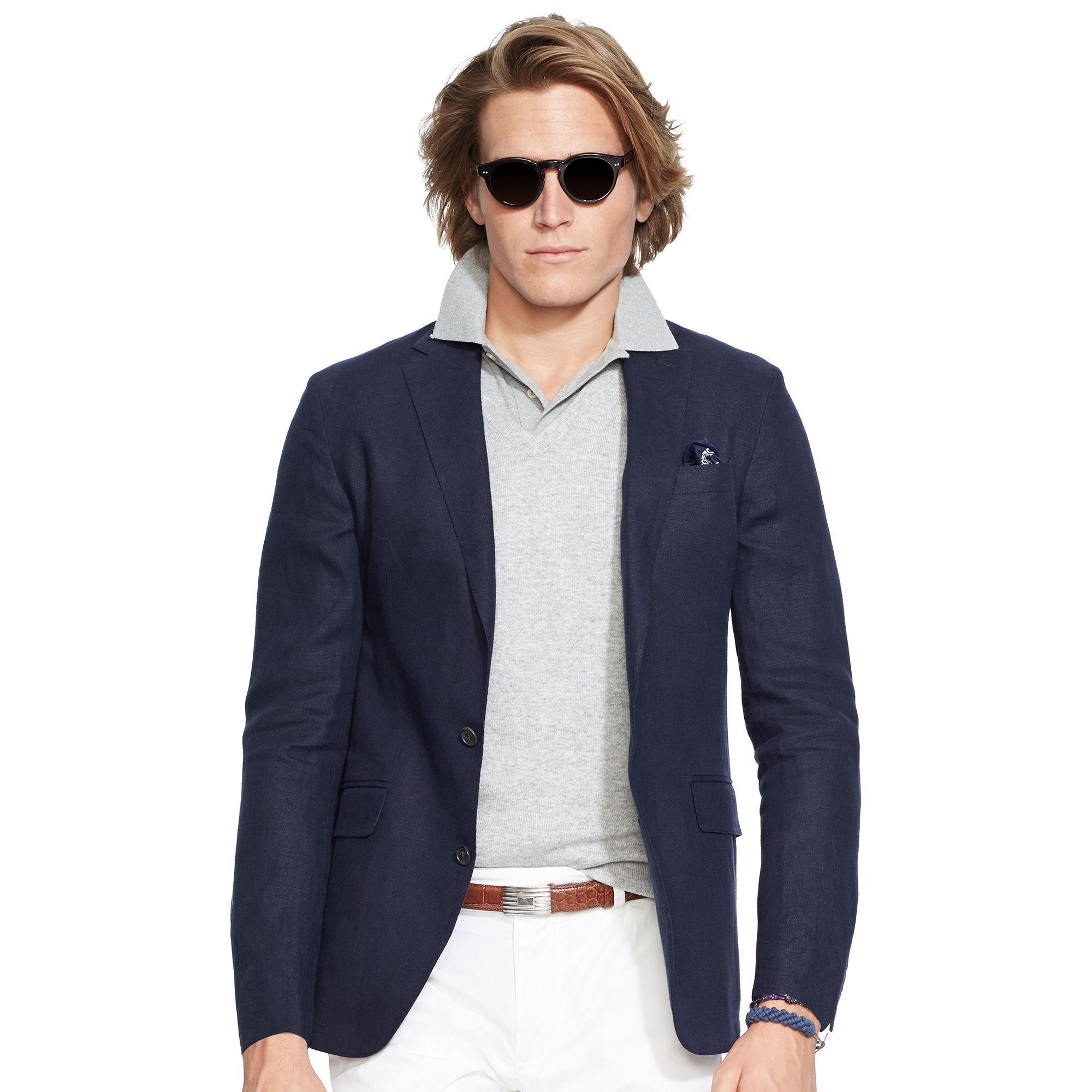 Ralph lauren Morgan Linen Sport Coat in Blue for Men | Lyst