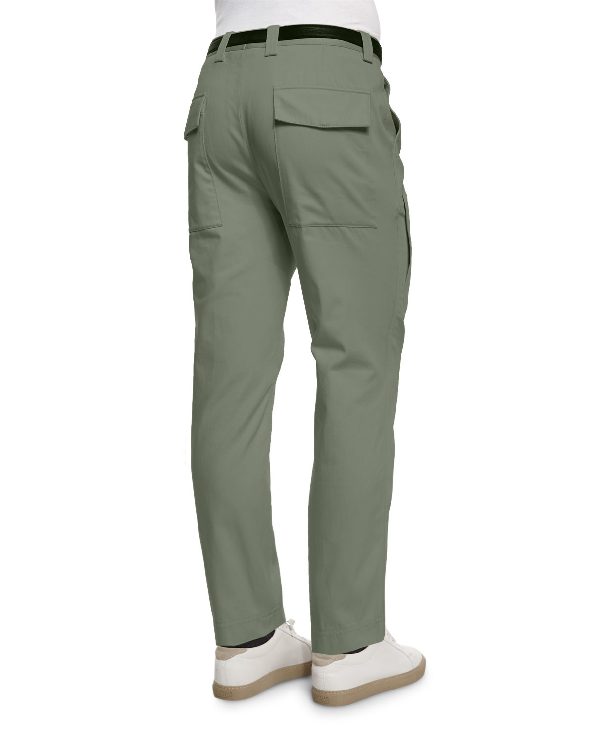 Brunello cucinelli Slim-fit Knit Cargo Pants in Green for Men | Lyst
