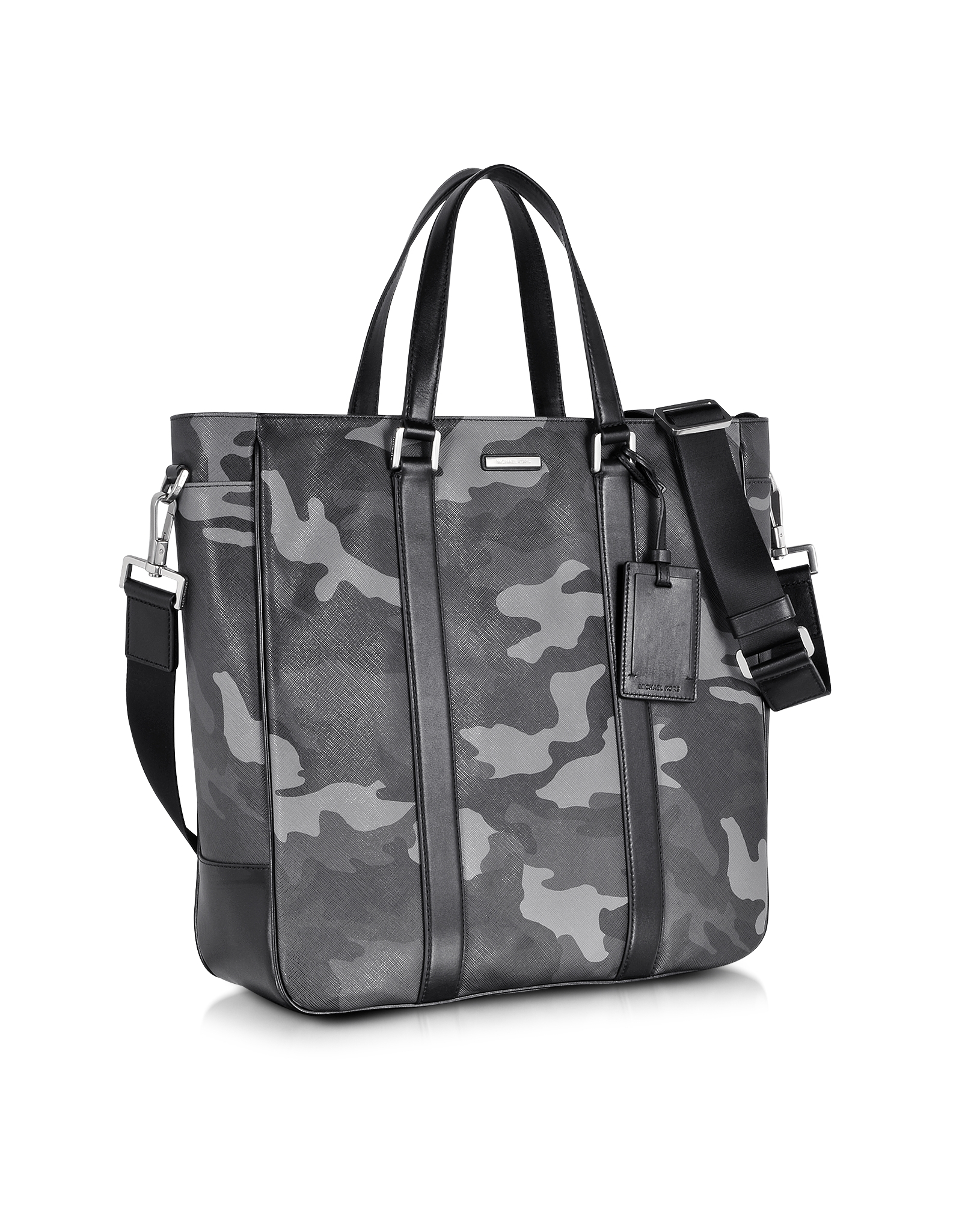 ae61b19ae016 Michael Kors Large Jet Set Men'S Camo Eco Leather Tote in Gray for ...