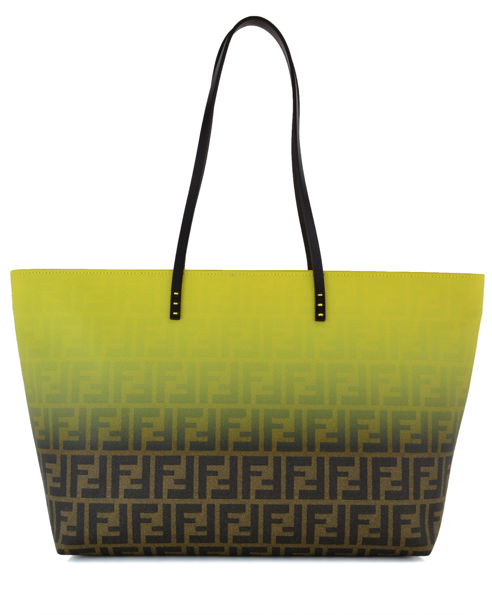 3d6d3ca549 Lyst - Fendi Yellow Ombre Zucca Tote in Yellow