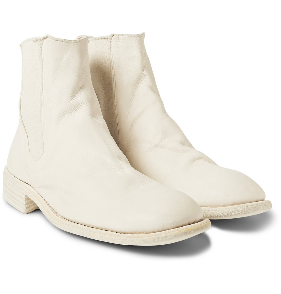 Guidi Leather Chelsea Boots in White for Men | Lyst