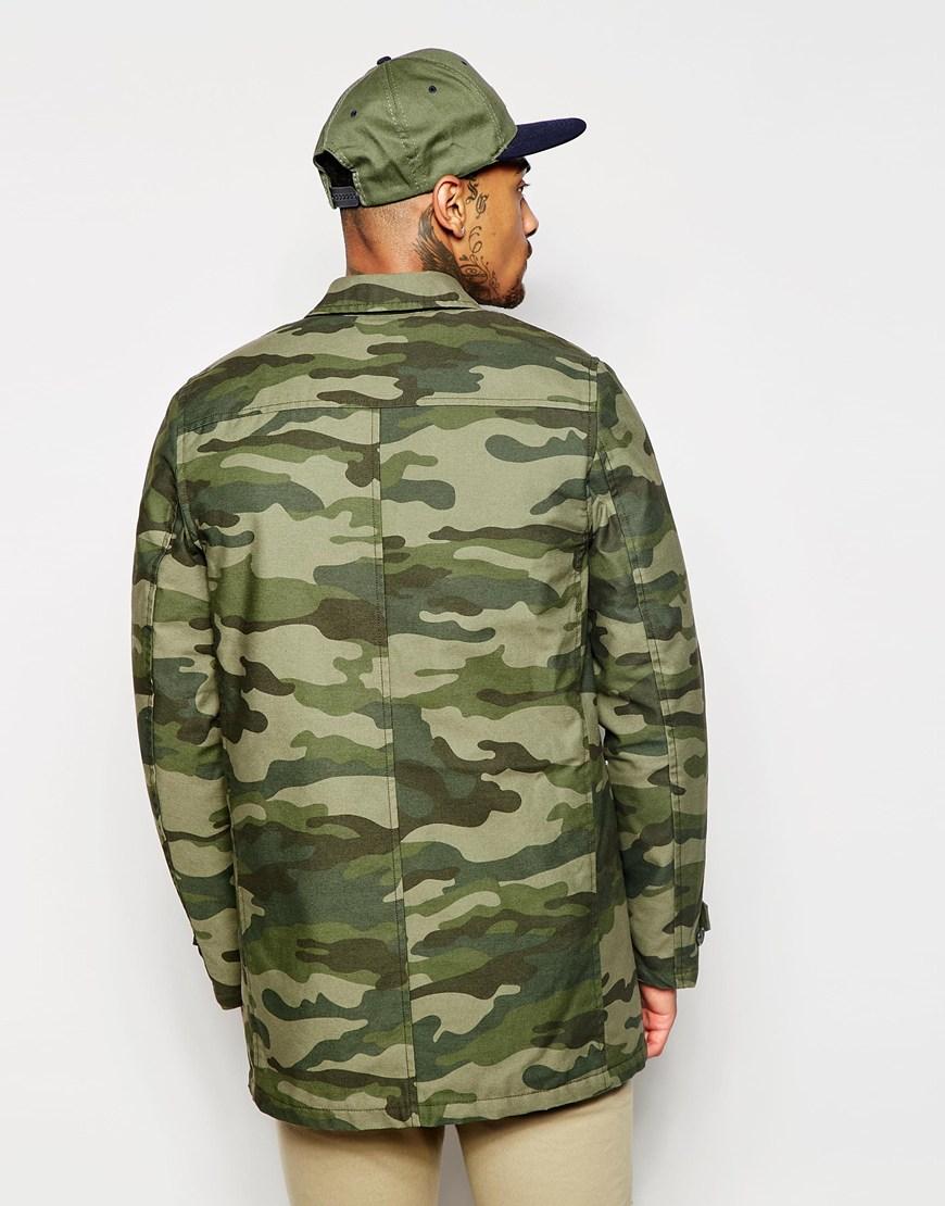 Carhartt Wip Camo Harris Trenchcoat In Green For Men Lyst