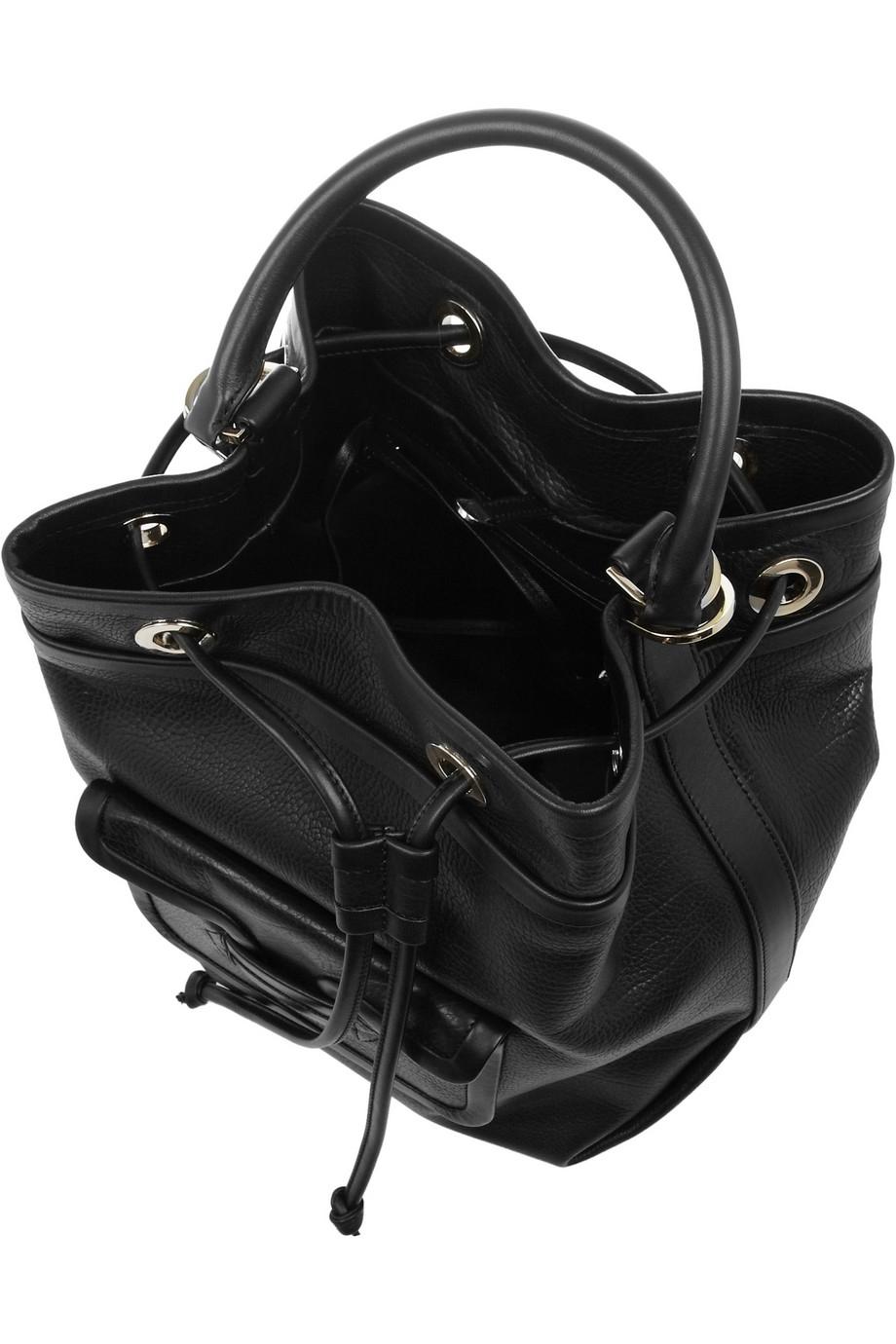pierre hardy grained leather shoulder bag in black lyst. Black Bedroom Furniture Sets. Home Design Ideas