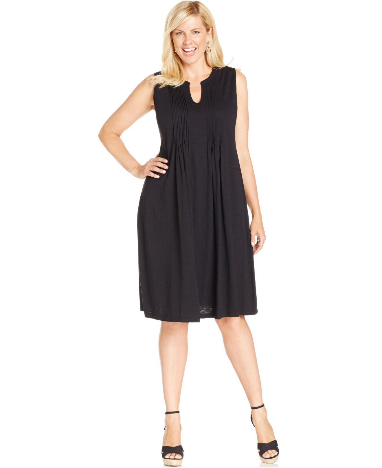 Lyst - Jones New York Signature Plus Size Pintucked Dress in ...