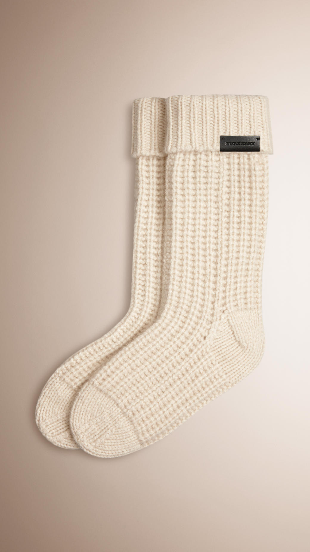 Burberry Knitted Cashmere Socks in Natural for Men Lyst