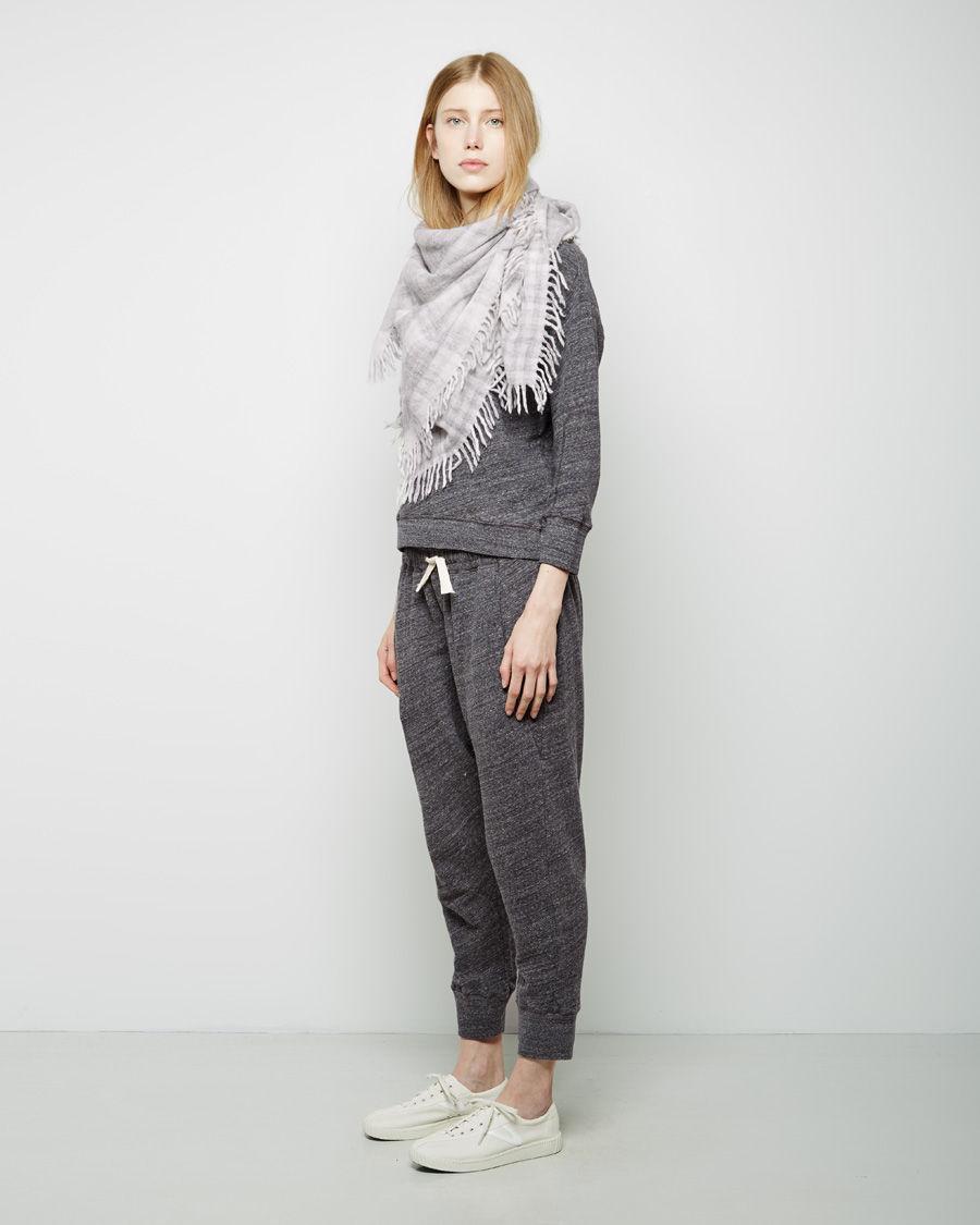 steven alan sided scarf in gray grey