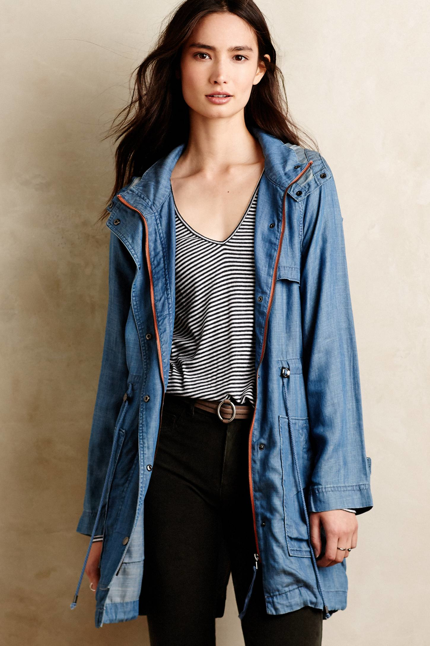 Marrakech Chambray Fatigue Anorak in Blue | Lyst