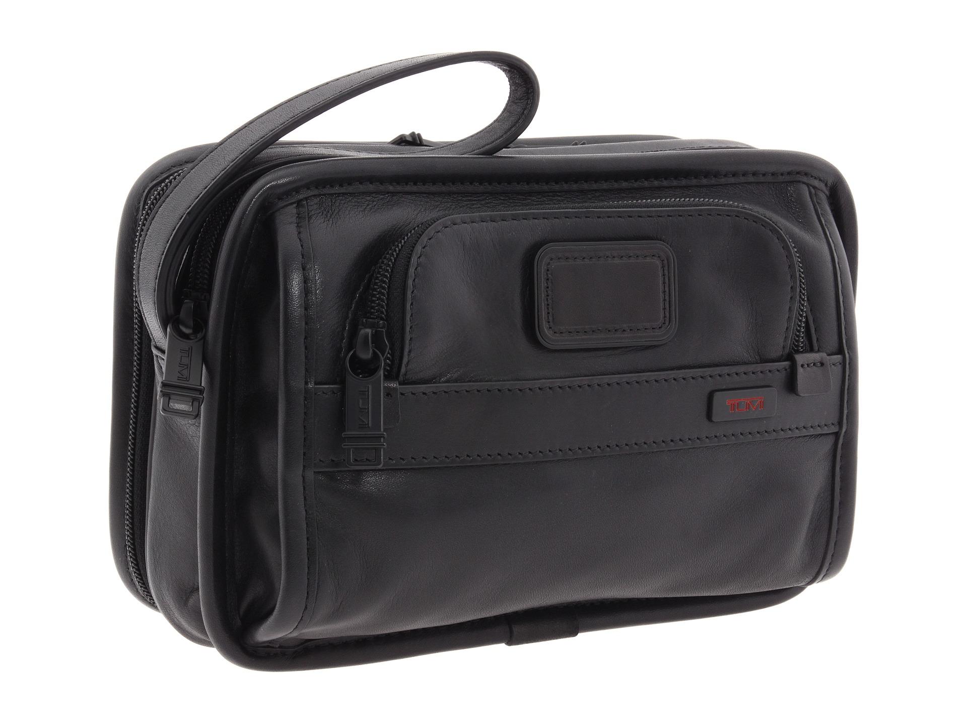 Lyst Tumi Alpha Leather Organizer Travel Clutch In Black