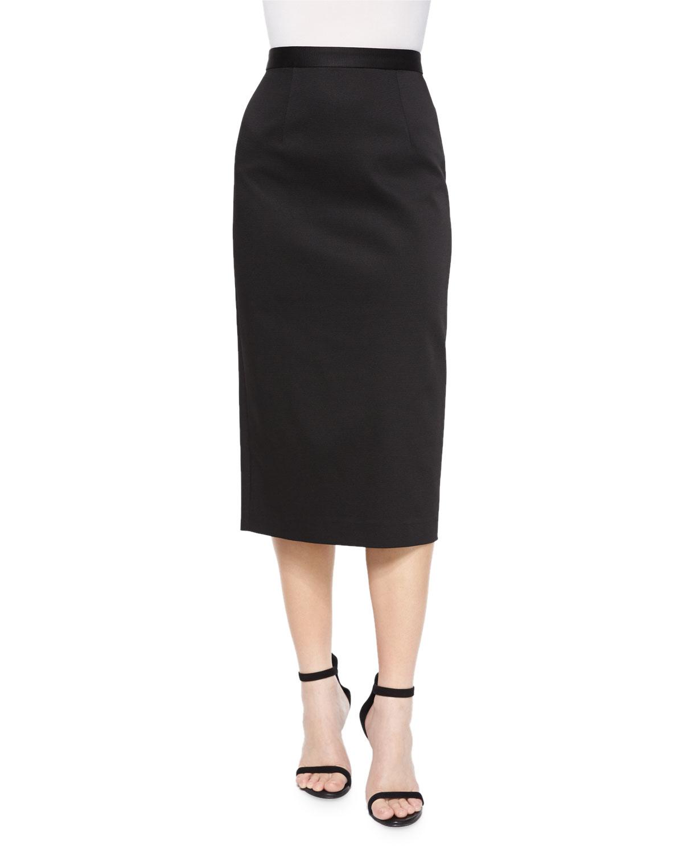 39f37d9204 Shoshanna Stretch Ottoman Pencil Skirt in Black - Lyst