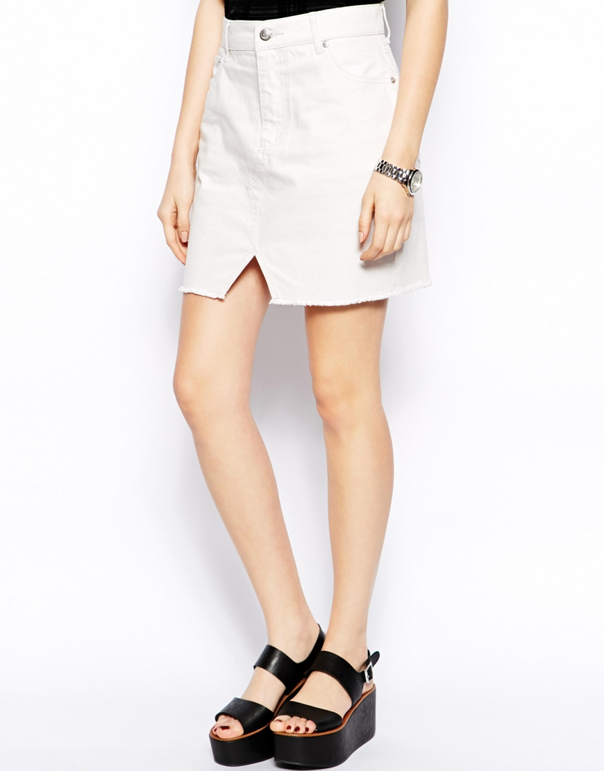 cheap white denim skirt dress ala