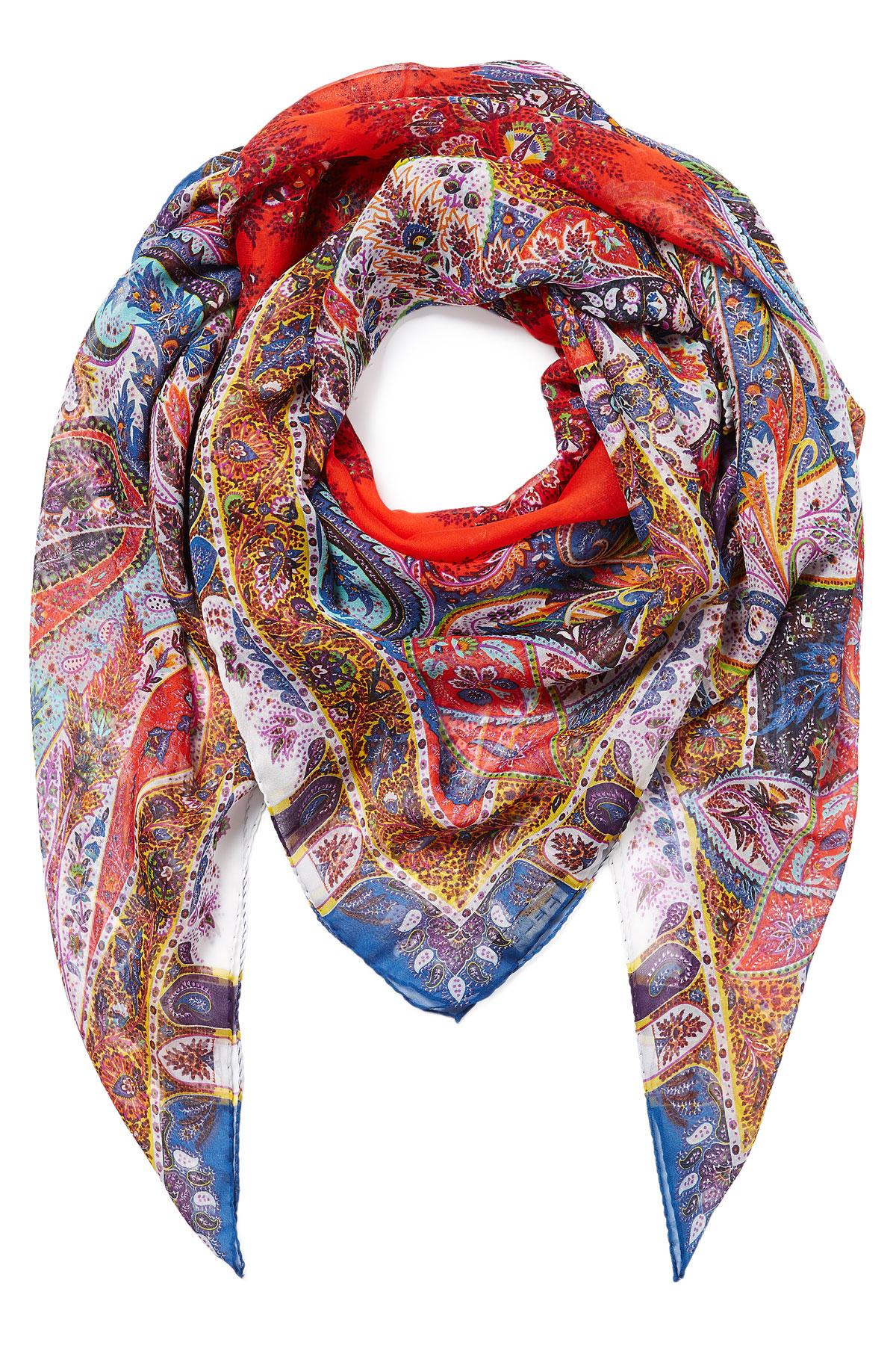 Etro Paisley Print Silk Scarf Lyst