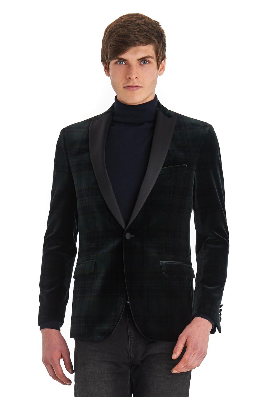 Ben sherman Black Slim Fit Velvet Blazer in Black for Men | Lyst