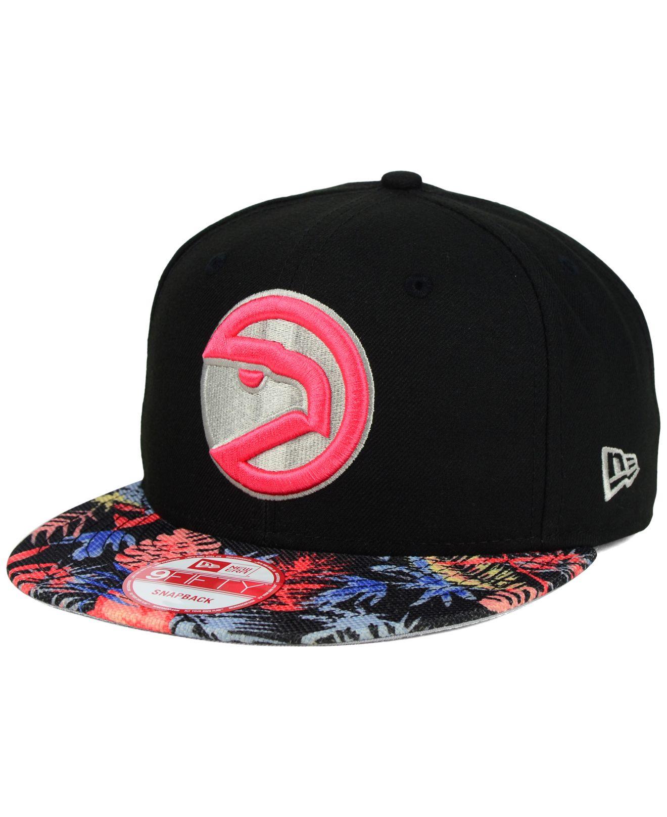 sale retailer 66143 836c7 ... best price lyst ktz atlanta hawks fall floral 9fifty snapback cap for  men a11c9 5b542